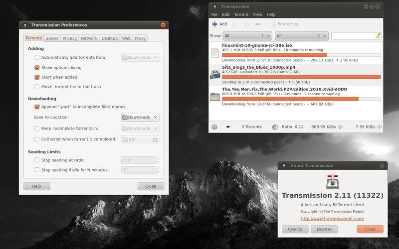 Скриншот 1 программы Transmission
