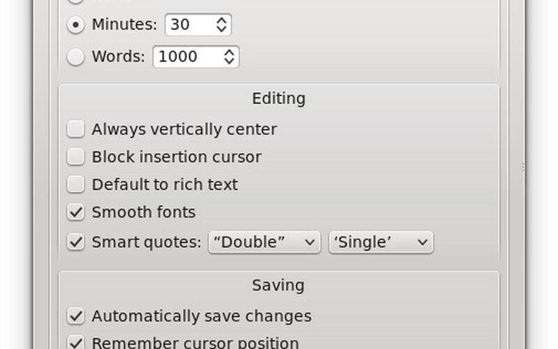 Скриншот 1 программы FocusWriter