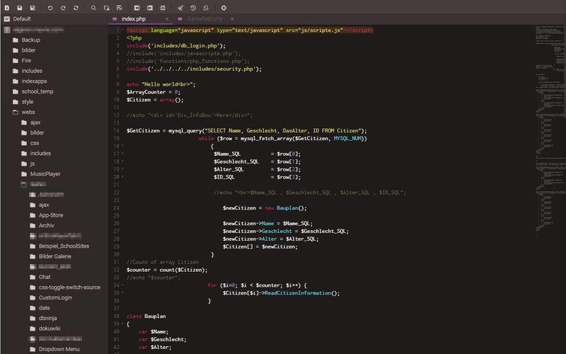 Скриншот 1 программы Codeanywhere