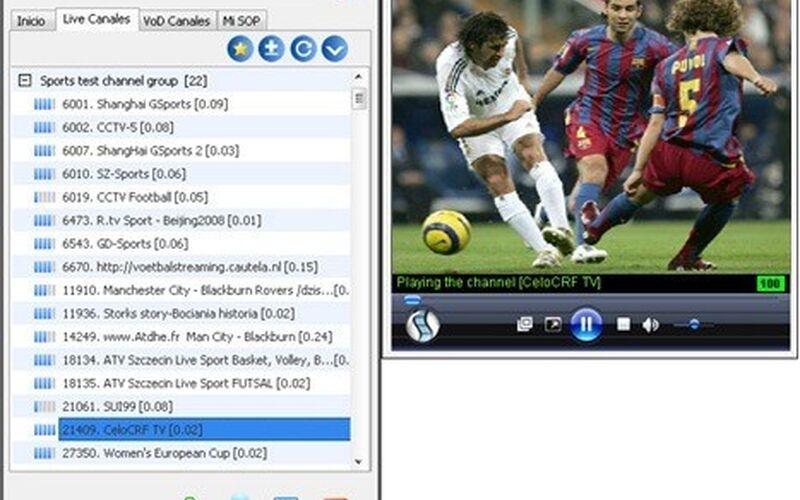 Скриншот 1 программы SopCast