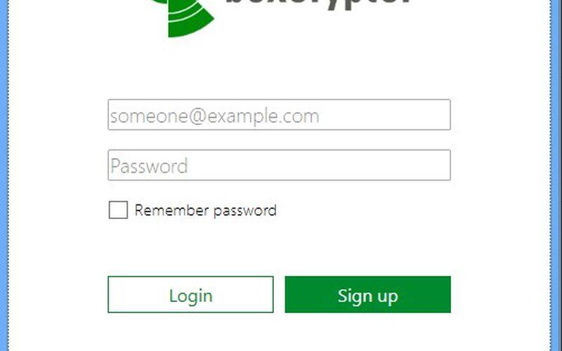 Скриншот 1 программы Boxcryptor