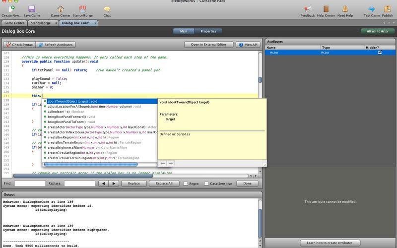 Скриншот 1 программы Stencyl