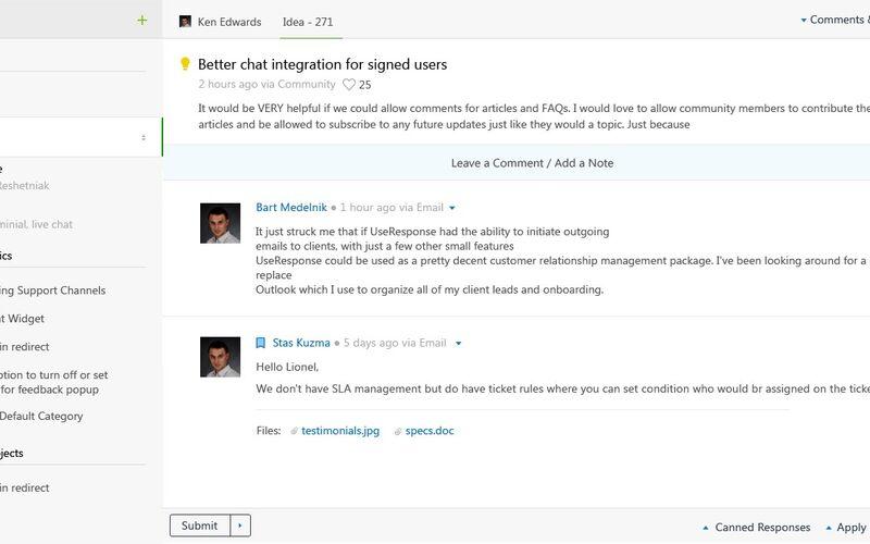 Скриншот 1 программы UseResponse