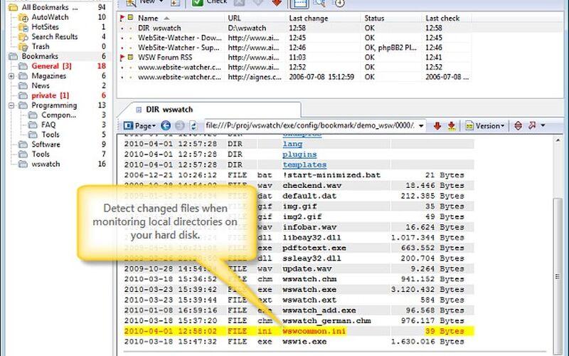 Скриншот 1 программы WebSite-Watcher