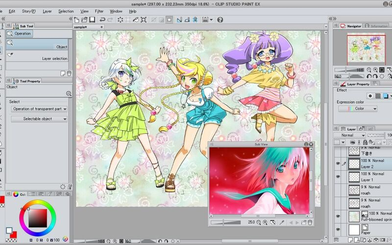 Скриншот 1 программы Clip Studio Paint