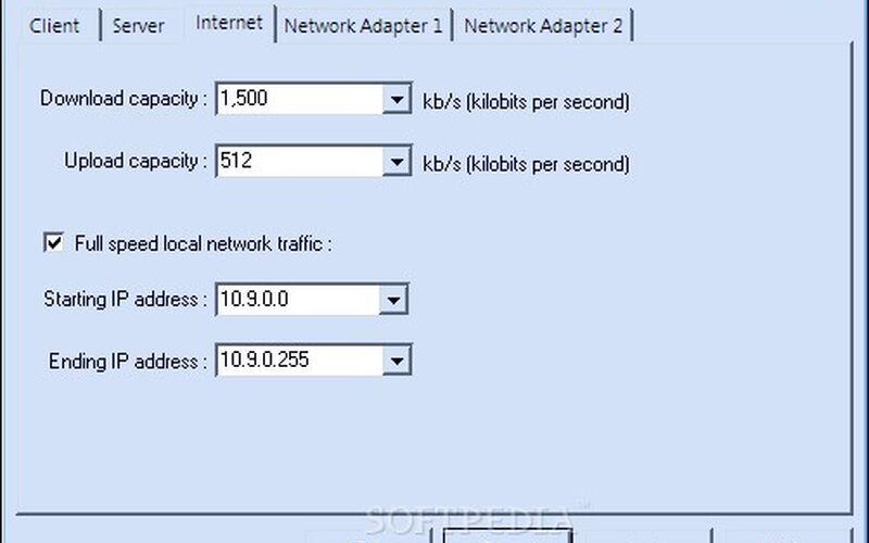 Скриншот 1 программы Traffic Shaper XP