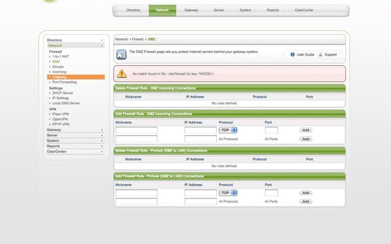 Скриншот 1 программы ClearOS