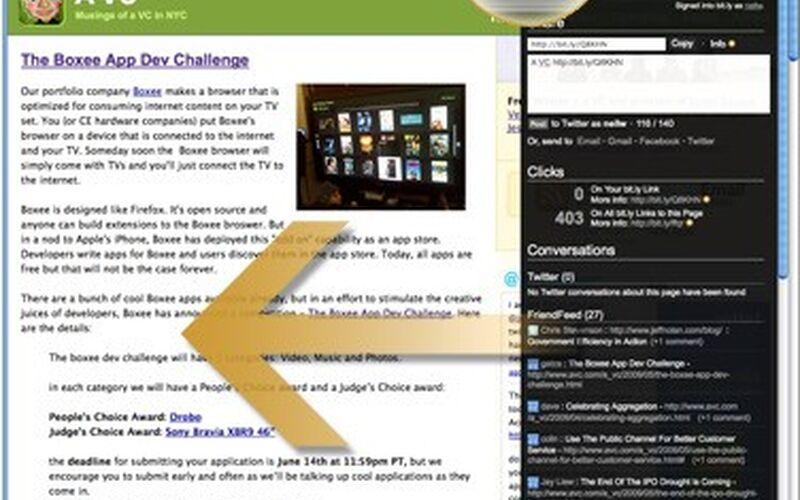 Скриншот 1 программы bit.ly