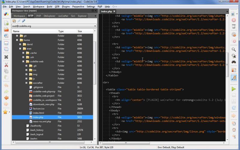 Скриншот 1 программы CodeLite