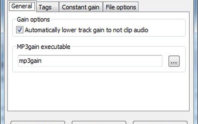 Скриншот 1 программы wxMP3gain