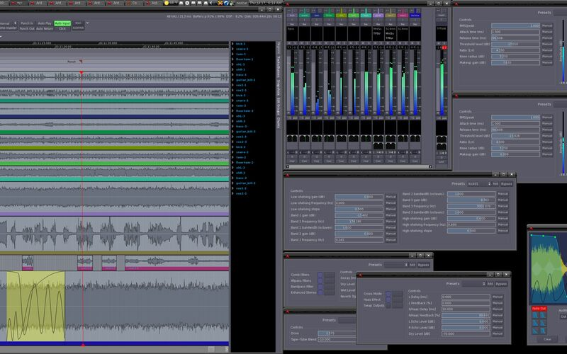 Скриншот 1 программы Ardour