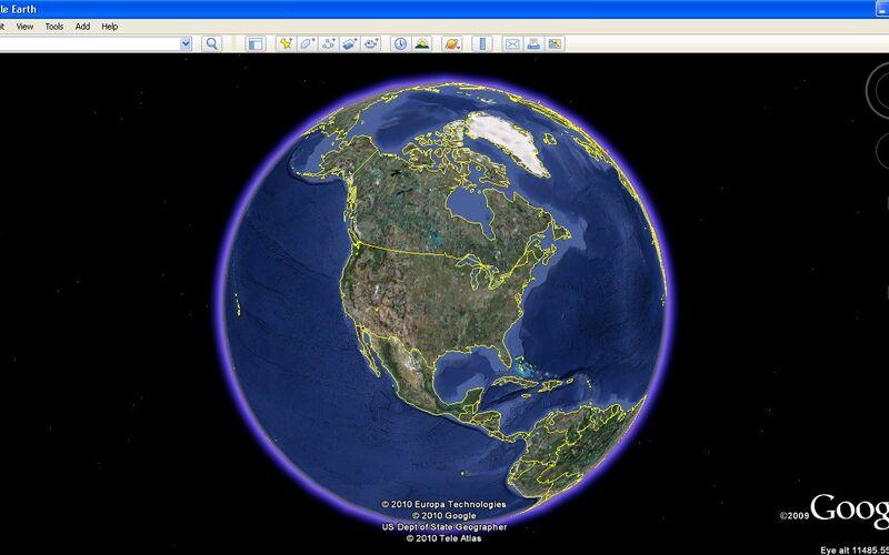 Скриншот 1 программы Google Earth