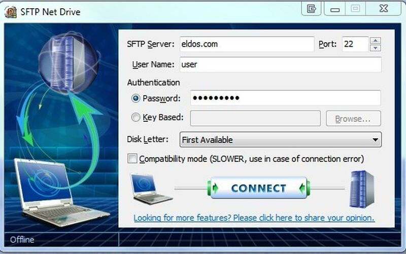 Скриншот 1 программы SFTP Net Drive