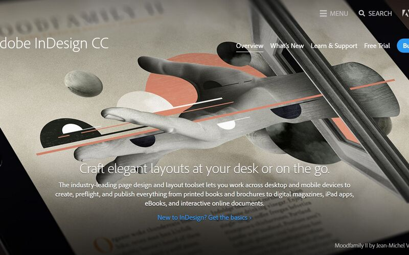 Скриншот 1 программы Adobe InDesign