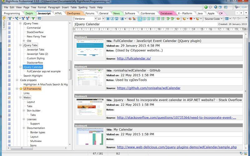 Скриншот 1 программы RightNote