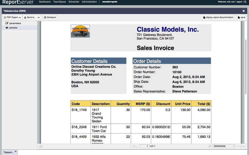 Скриншот 1 программы ReportServer