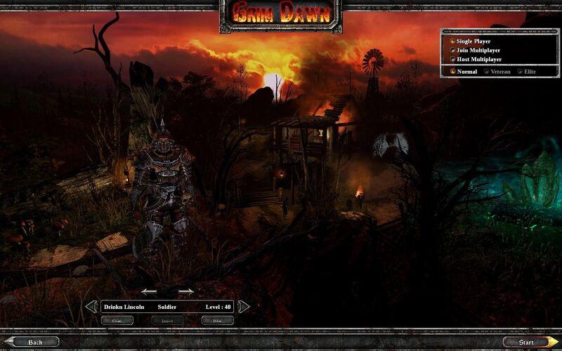 Скриншот 1 программы Grim Dawn