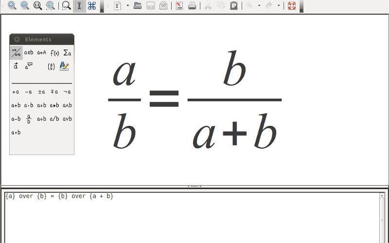 Скриншот 1 программы LibreOffice - Math