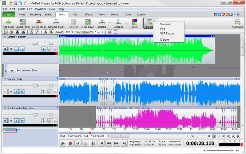 Скриншот 1 программы MixPad