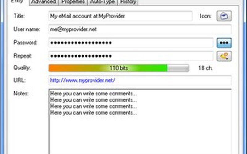 Скриншот 1 программы KeePass