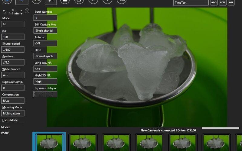 Скриншот 1 программы digiCamControl