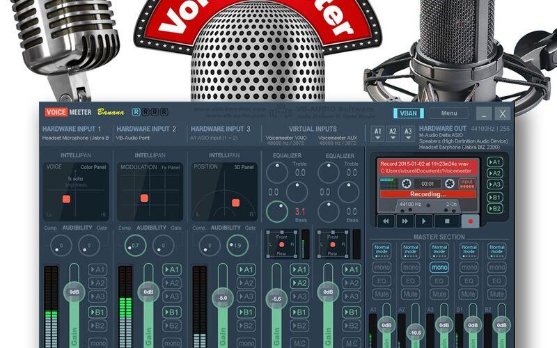 Скриншот 1 программы Voicemeeter Banana