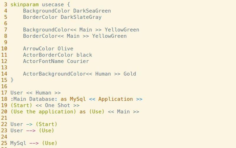 Скриншот 1 программы PlantUML