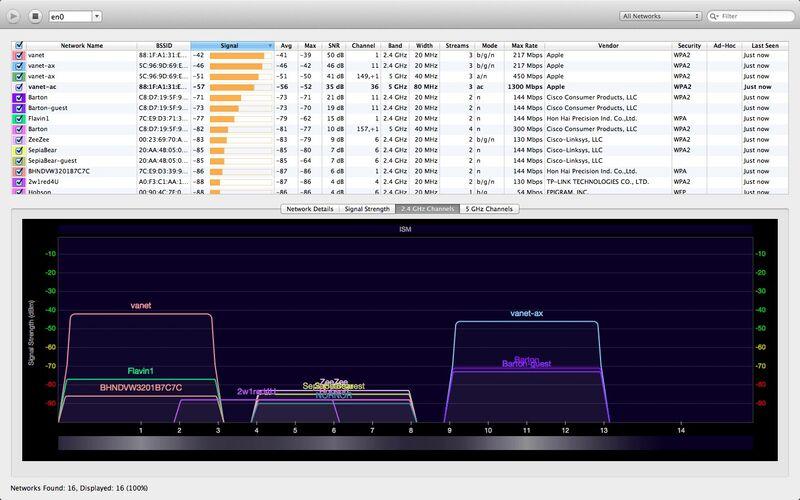 Скриншот 1 программы WiFi Explorer