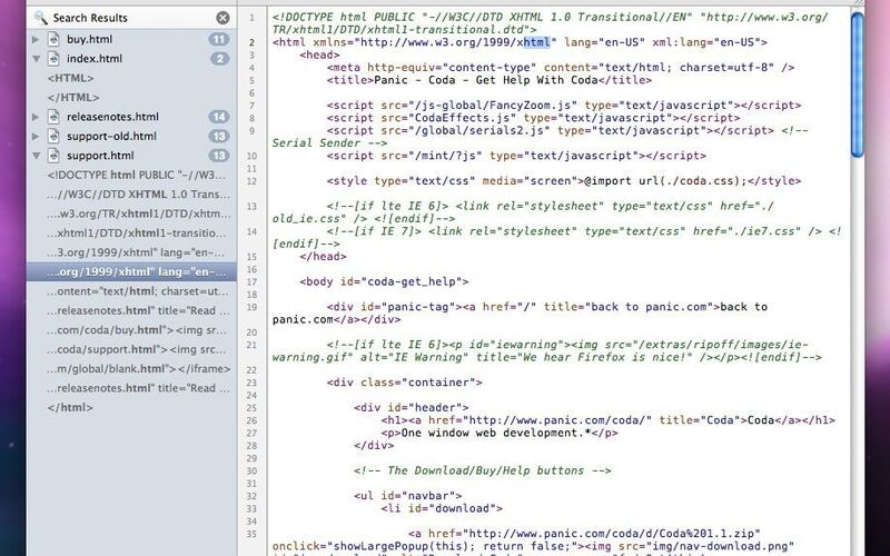 Скриншот 1 программы Coda