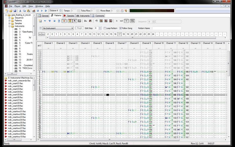 Скриншот 1 программы OpenMPT