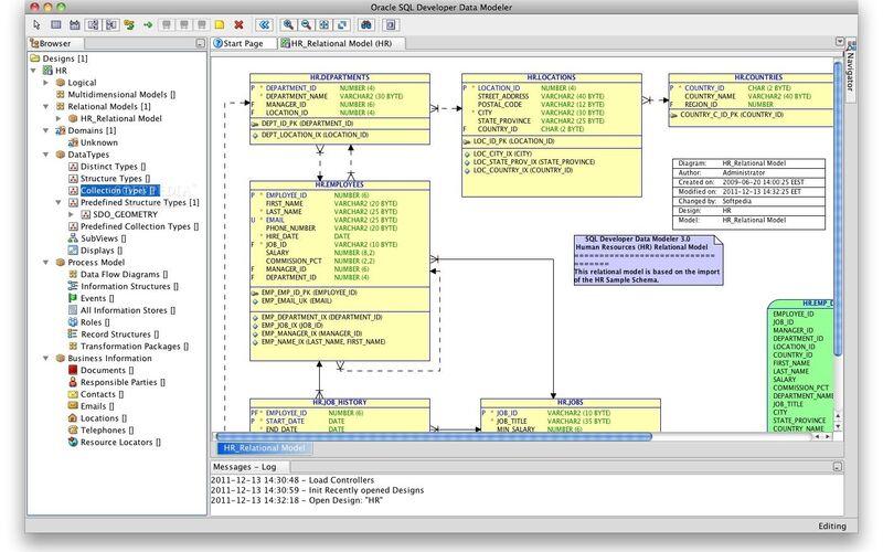 Скриншот 1 программы SQL Developer Data Modeler