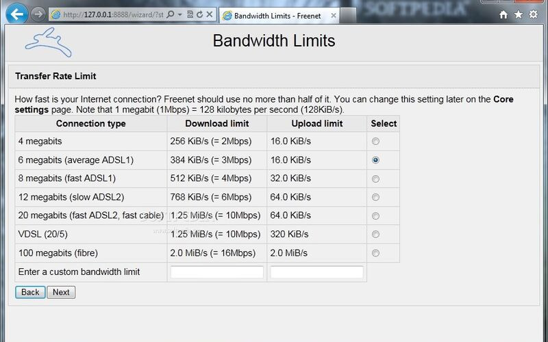 Скриншот 1 программы Freenet