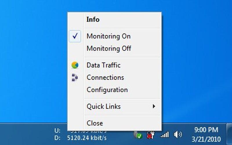 Скриншот 1 программы NetSpeedMonitor