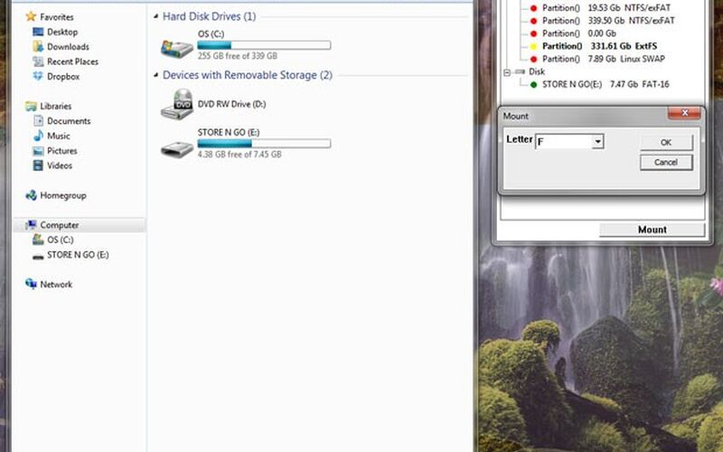 Скриншот 1 программы Paragon ExtFS Free