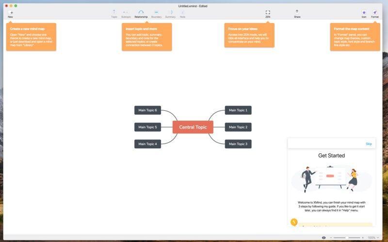 Скриншот 1 программы Xmind Zen