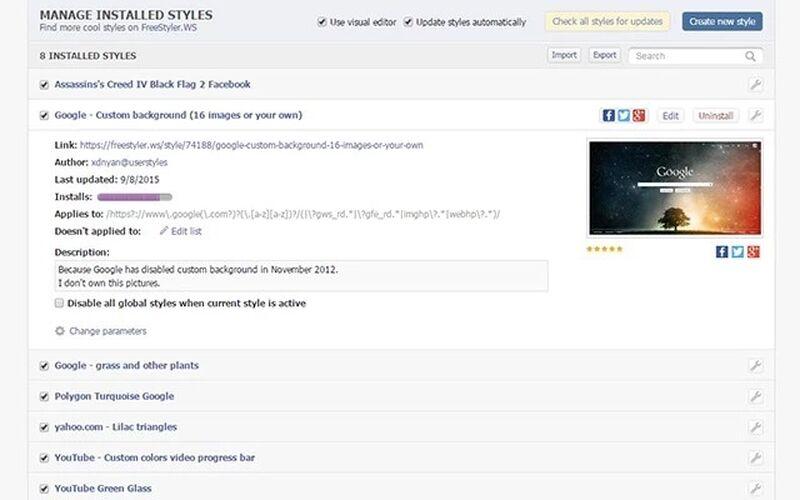 Скриншот 1 программы FreeStylerWs