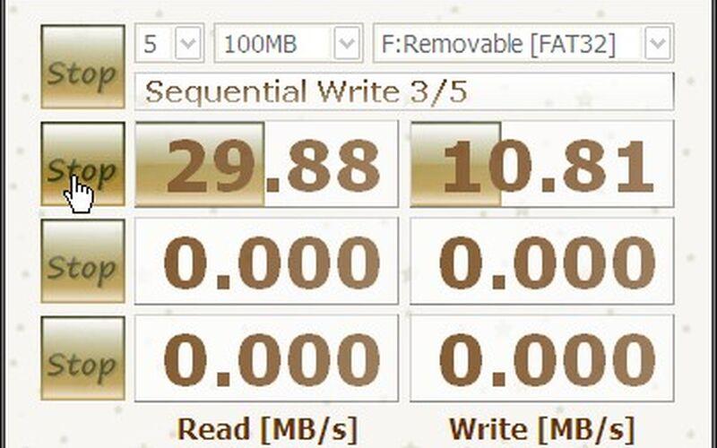 Скриншот 1 программы CrystalDiskMark