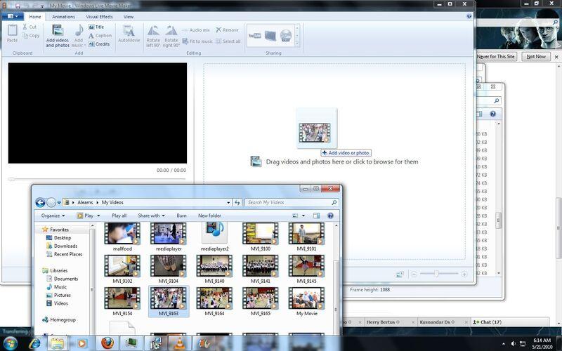 Скриншот 1 программы Windows Movie Maker