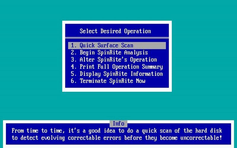 Скриншот 1 программы SpinRite