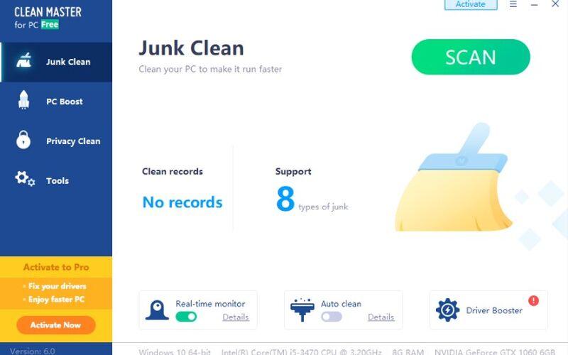 Скриншот 1 программы Clean Master