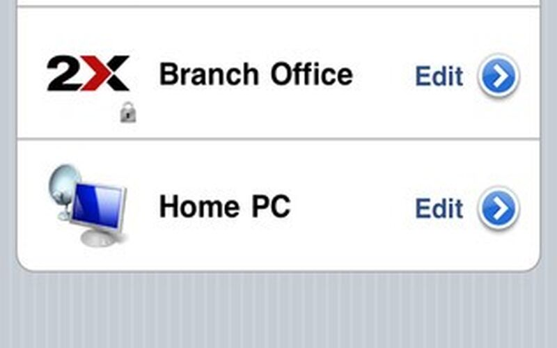 Скриншот 1 программы 2X RDP Client