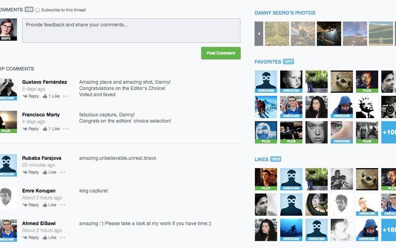 Скриншот 1 программы 500px