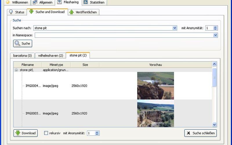 Скриншот 1 программы GNUnet