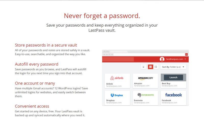 Скриншот 1 программы LastPass
