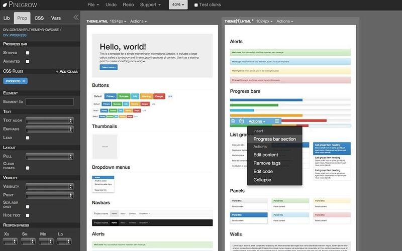 Скриншот 1 программы Pinegrow Web Editor
