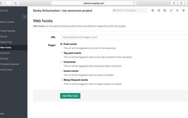 Скриншот 1 программы GitLab