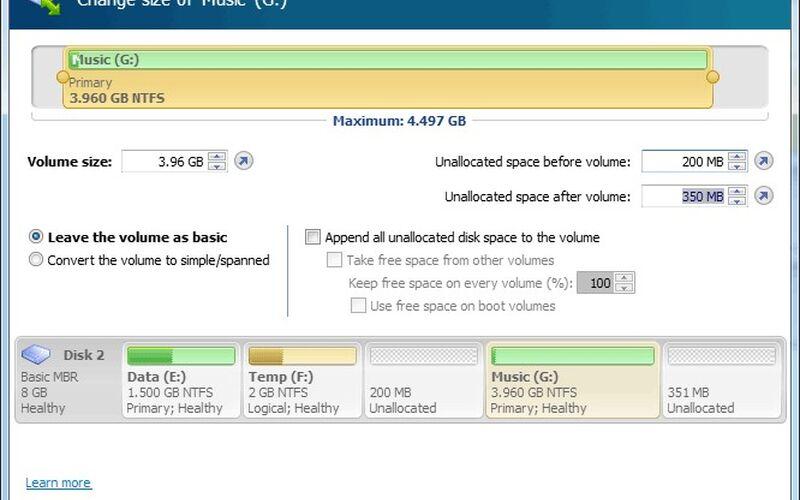 Скриншот 1 программы Acronis Disk Director