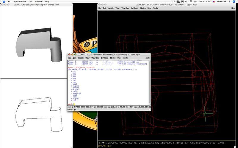 Скриншот 1 программы BRL-CAD