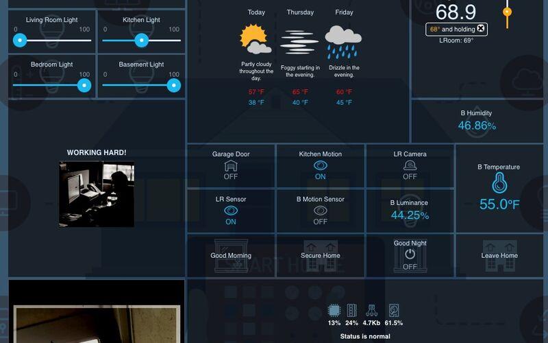 Скриншот 1 программы openHAB