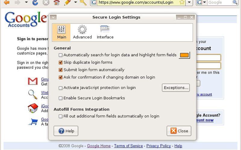 Скриншот 1 программы Secure Login